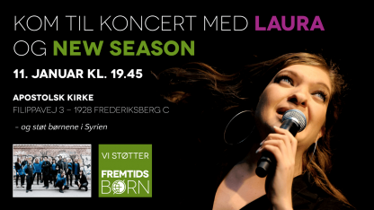 Laura holder koncert til fordel for Danmission