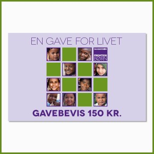 'En gave for livet' - 150 kr.