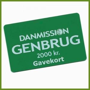 Gavekort til Danmission Genbrug - 2000 kr.