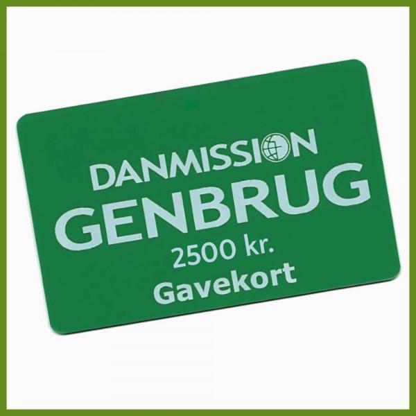 Gavekort til Danmission Genbrug - 2500 kr.
