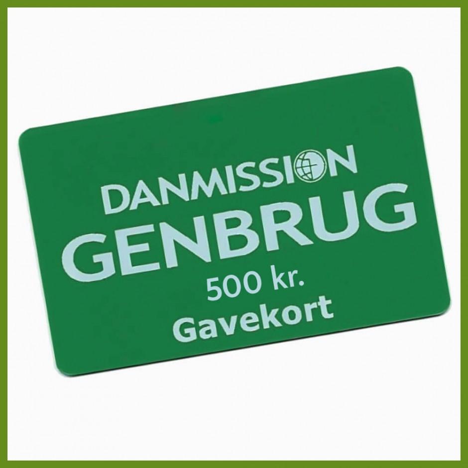 Gavekort til Danmission Genbrug - 500 kr.