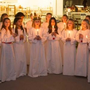Glimt fra Årets Lucia Indsamling