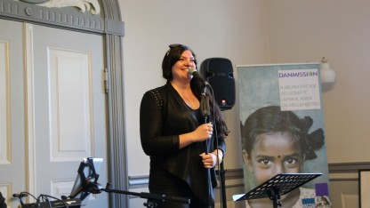 Fremtidsbørn ambassadør Laura Kjærgaard gav et brag af en koncert