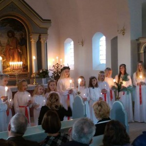 Lucia-optog efter stolt svensk tradition