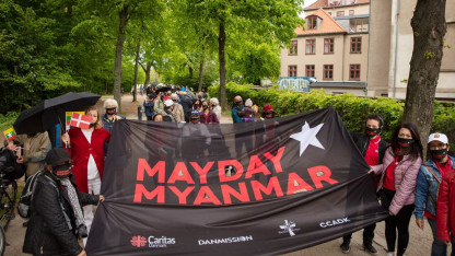 Mayday Myanmar: Over 300 deltog i vandring for fred