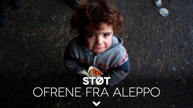 Støt ofrene fra Aleppo