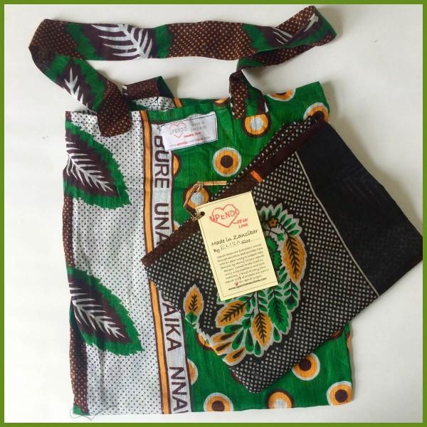 Smukt tørklæde i grønt mønster