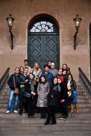 Undervisningssporet Religion, konfliktløsning og forsoning, hvor deltagerne hørte om dialog som redskab i konflikthåndtering og var på besøg i Københavns Byret. Fotograf: Søren Kjeldgaard