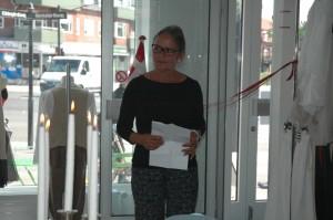 Danmissions næstformand, Hanne Rosenberg, holder tale