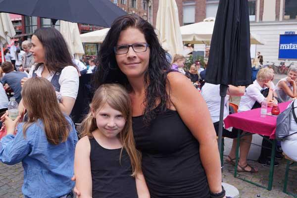 Helle og hendes datter, GospelAid 2014
