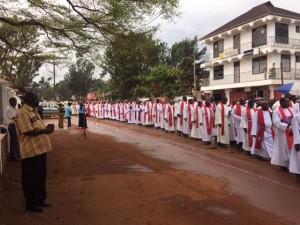 procession af præster