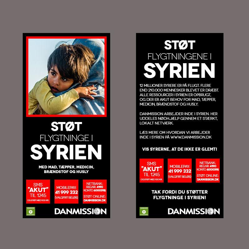 Flyer til Syrien indsamling