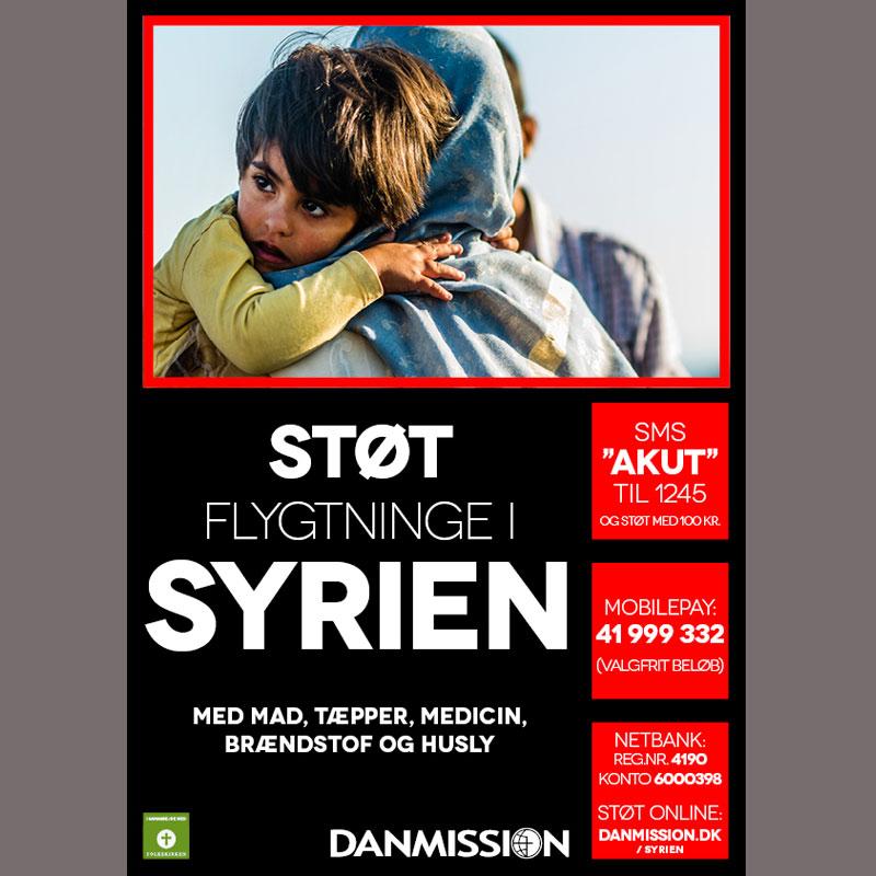 Plakat til Syrien indsamling