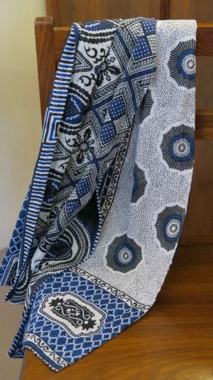 tørklæde blå