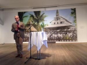 Jesper Kurt Nielsen, der er museumsinspektør for Nyere Tid og Verdens Kulturer på Nationalmuseet holdt åbningstalen.